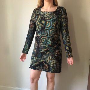 Long sleeved dress.